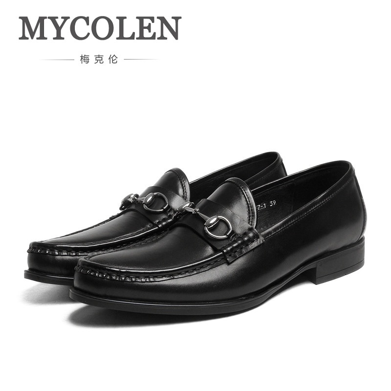 MYCOLEN Brand Fashion Men Shoes Mens Formal Set Foot Shoes Genuine Leather Breathable Business Office Men Shoes Chaussure pacento new brand leather men shoes fashion genuine leather business casual mens shoe flats large size 12 5 13 5 chaussure homme