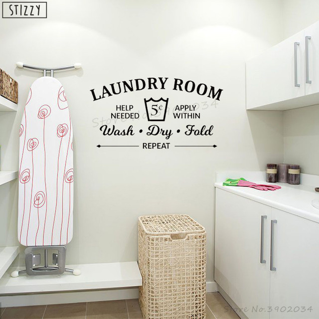 stizzy wall decal laundry room rules art decals wall stickers wash