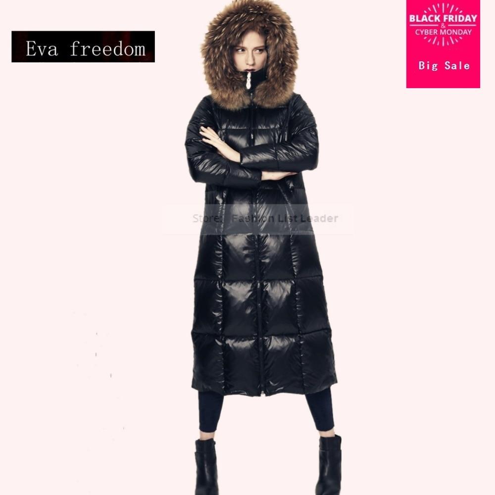 S-3XL 2018 femmes de nouvelle hiver de bonne qualité de luxe raton laveur Nagymaros col manteau grande courtepointe plus épais chaud parkas w1214