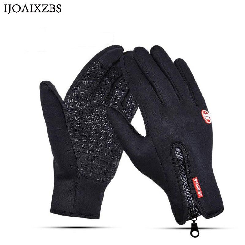 Ветрозащитный Тактический Зимние перчатки бархат мотоцикл Лыжный Спорт Велоспорт полный палец сенсорного экрана полезной Для мужчин Для ж... ...