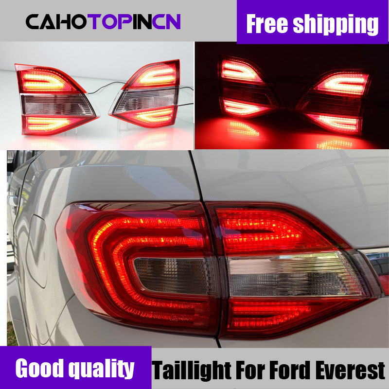 Taillight For Ford Everest 2016 2017 2018 LED Tail light Rear Reflector Bumper Lights LED Car