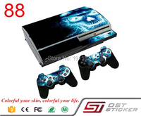 OSTSTICKER New Decal Skin Sticker For PS3 Fat Console+2PCS Free Controller Protective Stickers