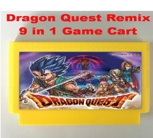 Dragon Quest Remix 9 in 1 FC60Pins game cartridge, Dragon Quest I.II.III.IV, Dragon Warrior I.II.III.IV image