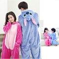 Mulheres conjuntos de Pijama de Flanela Com Capuz Pijamas Kigurumi Unicórnio figmen Ponto onesies para Adultos Crianças Onesies Pijamas de Inverno Dos Homens