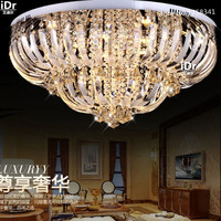 new Contemporary luxury Ceiling Lights mounted crystal lamp modern lighting lustre Dia80*H35cm dimmable led light