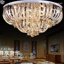 Nuevo lujo Contemporáneo Luces techo lámpara de cristal moderna iluminación lustre Dia80 * H35cm dimmable llevó la luz