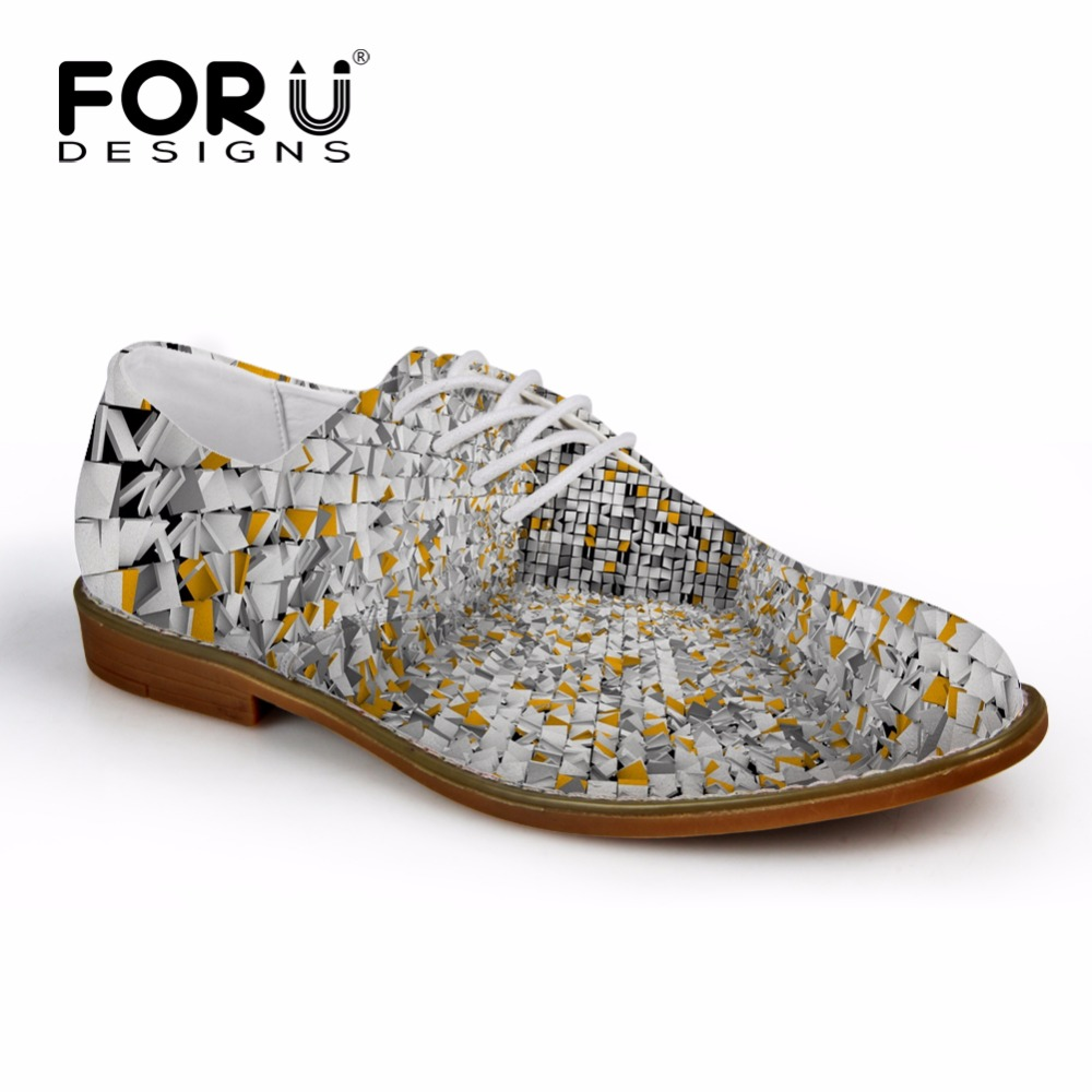 FORUDESIGNS Spring Men Casual Synthetic Leather Shoe 3D Printing Men Flats Oxfords Shoes Fashion Brand Designer