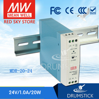 (Only 11.11)MEAN WELL MDR 20 24 (6Pcs) 24V 1A meanwell MDR 20 24V 24W Single Output Industrial DIN Rail Power Supply