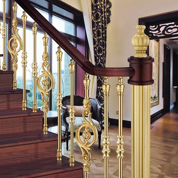 European Interior Design Classical Aluminum Stair Railing Luxury | Aluminum Stair Railings Interior | Wrought Iron | Iron Staircase | Cable | Outdoor | Handrail