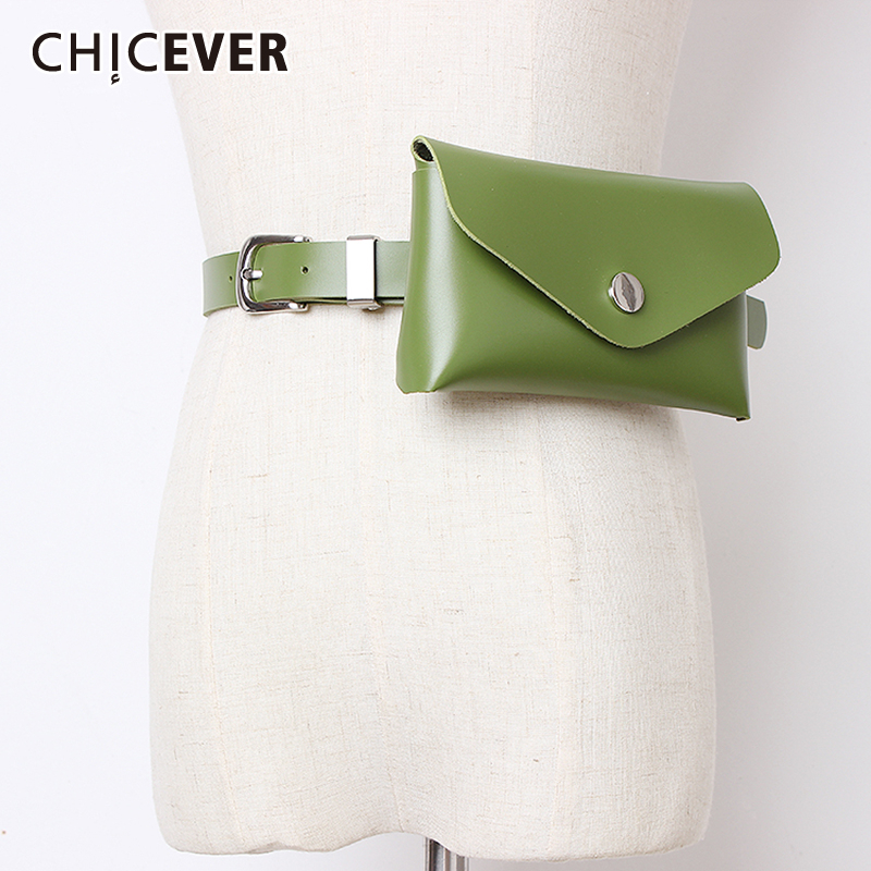 CHICEVER 2019 Summer High Waist PU Leather Belts For Female Vintage Dresses Accessories Fashion New Tide Korean