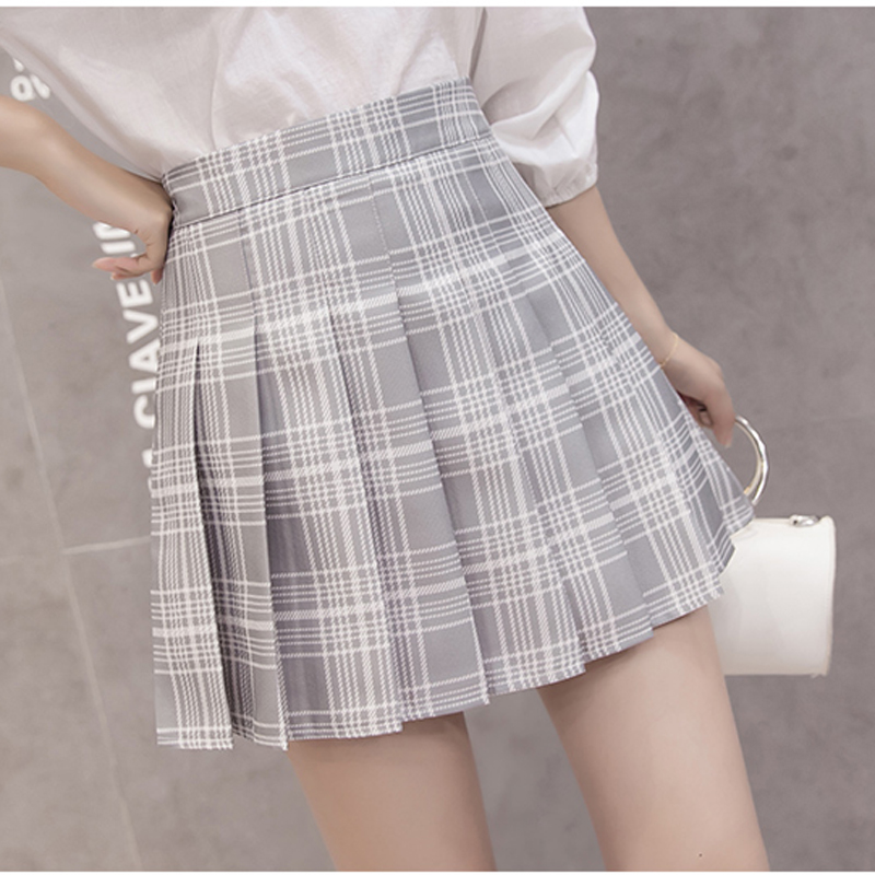 XS 3XL Women Skirt Preppy Style High Waist Chic Stitching Skirts Summer Student Pleated Skirt Women