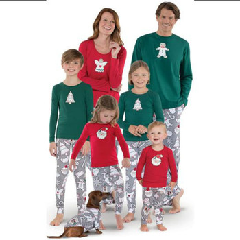 Family Matching Christmas Pajamas Mother Daughter Clothing Clothes Look Mom Mommy and Me Baby Girl Outfits Dress Mum Set CA412 Family Matching Outfits