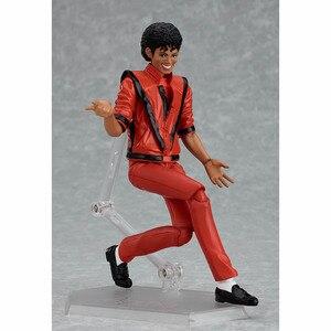 Image 2 - MJ Thriller Figma 096 Thriller Clothes Version Jackson  PVC Action Figure Toy Brinquedos