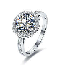 Excellent 3 Carat Moissanite Jewelry Pass Testers Genuine Solid 750 Gold Moissanite Engagement Ring Women 750 Gold Ring