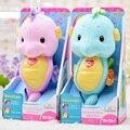 N-Para apaziguar um pequeno hipocampo brinquedos de pelúcia do bebê, fantoche de mão do bebê, neonatal pré-natais música para ajudar a dormir