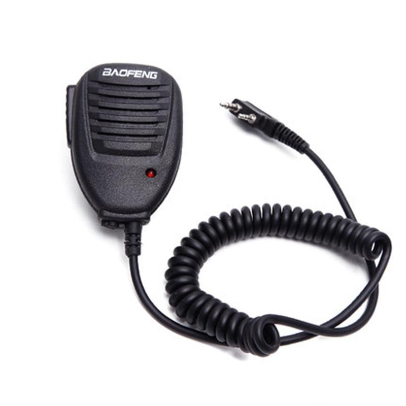 2 Pin PTT Mini Speaker Mic for Baofeng BF-490 BF-666 BF-888 BF-999 UV-5R UV-3R+