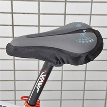 Gray Soft Bicycle Saddle Silicone Silica Gel Cushion Cover Comfortable Sponge Pad Seat Case Anti-skid Bike Parts