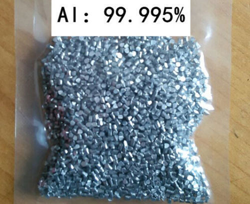 Aluminium metal element 13 Al shiny pellets 100 grams 99,995%