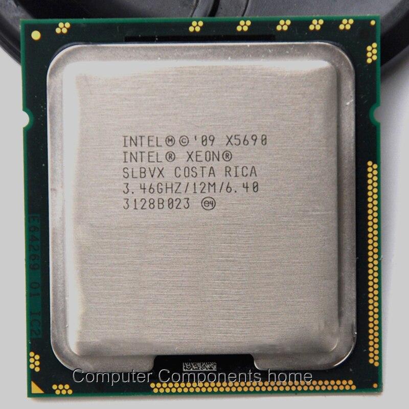 Intel xeon X5690 intel X5690 CPU Processeur Six-Core (3.46 Ghz/L3 = 12 M/130 W) LGA 1366 CPU De Bureau adapté X58 carte mère