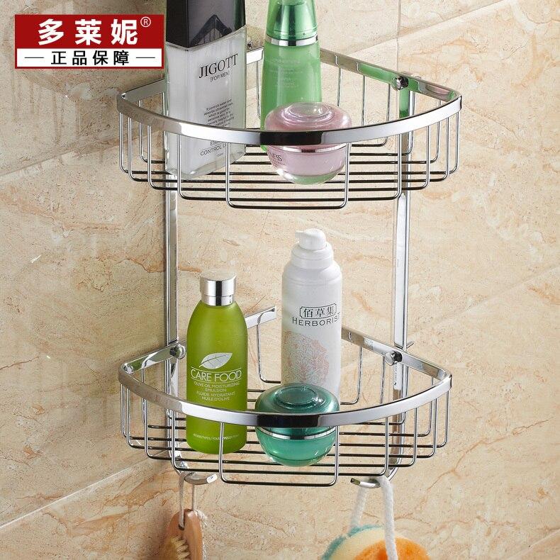 Duo Laini triangular stainless steel bathroom toilet toilet basket ...