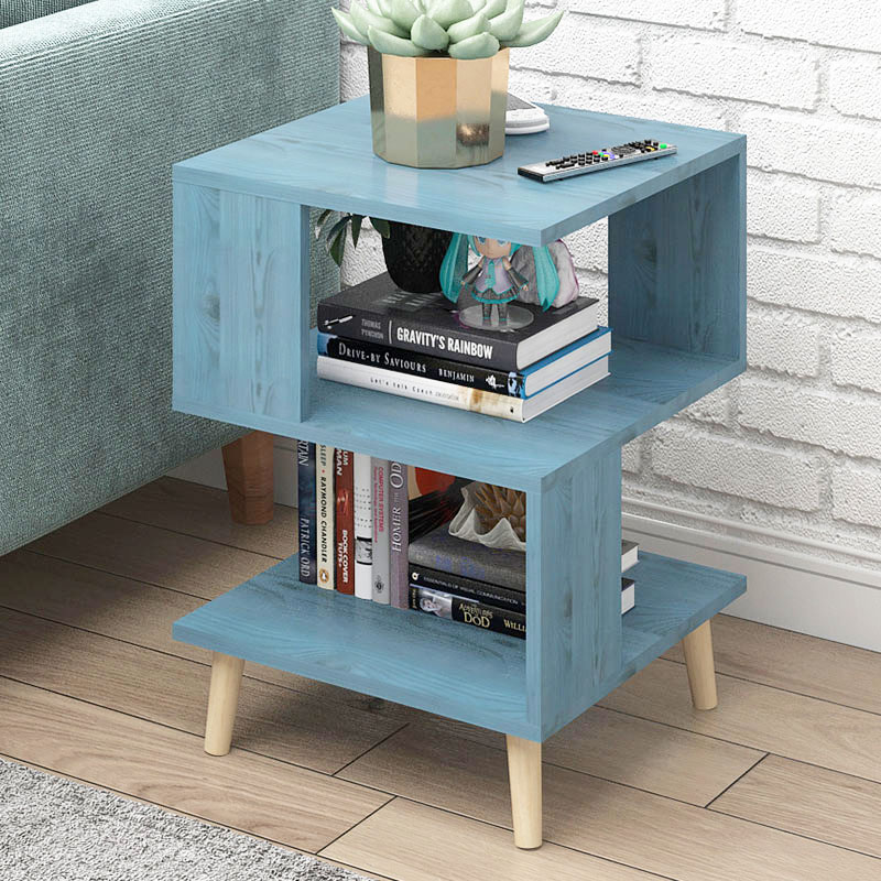 Nordic Creative Modern Wooden Nightstand Coffee Sofa End Bedside Table Bedstand Cabinet Cupboard Bedroom Storage Home Furniture(China)
