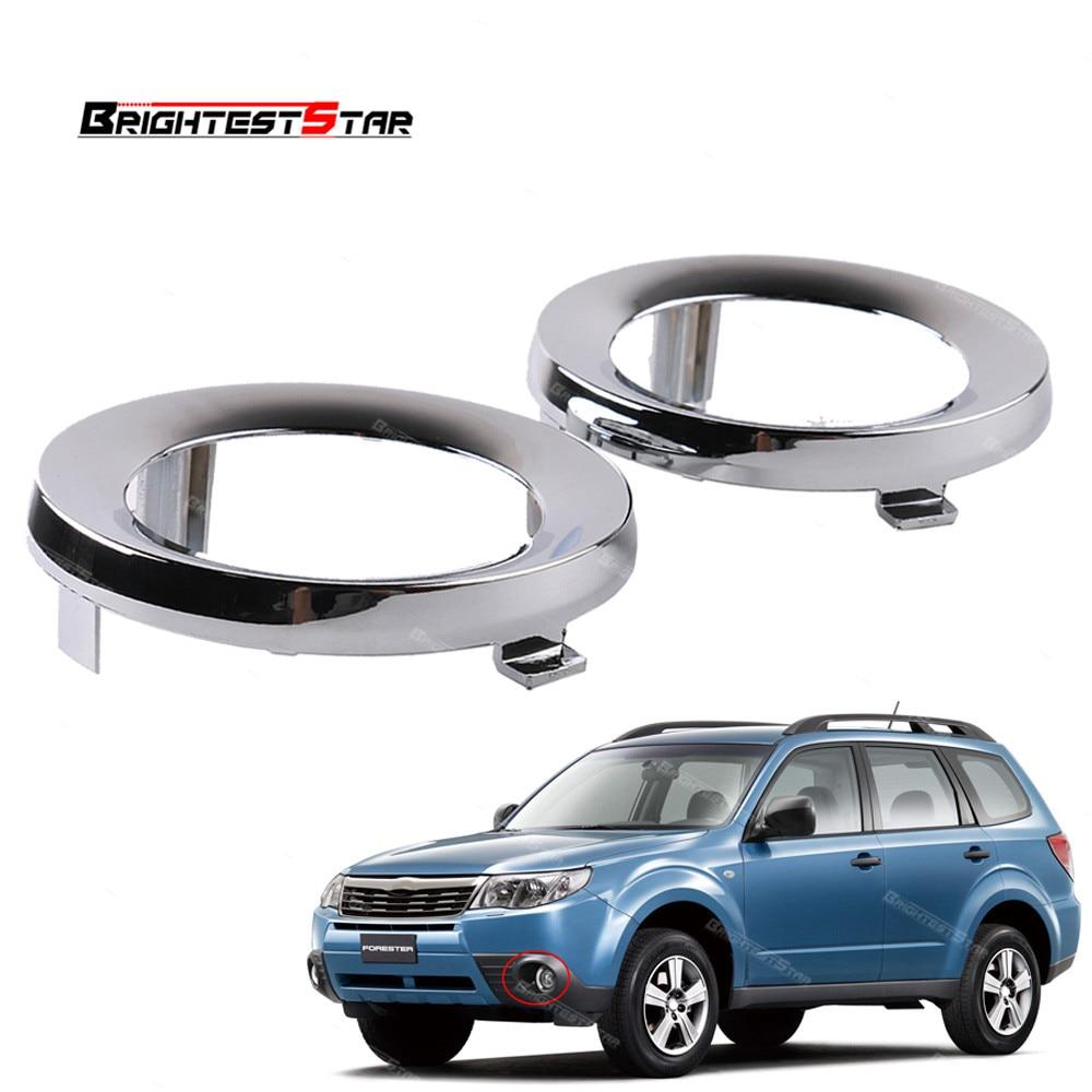 Pair Front Chrome Fog Light Lamp Cover Cap Trim Ring For Subaru Forester 2009 2010 2011 2012 2013 57731sc000 57731 Sc000