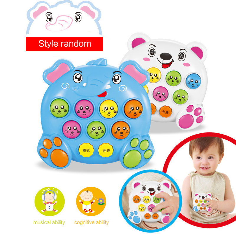 Kids Baby Plastic Music Toys Play Knock Hit Hamster Insect Game Playing Fruit Worm Educational Instrumentos Musicais