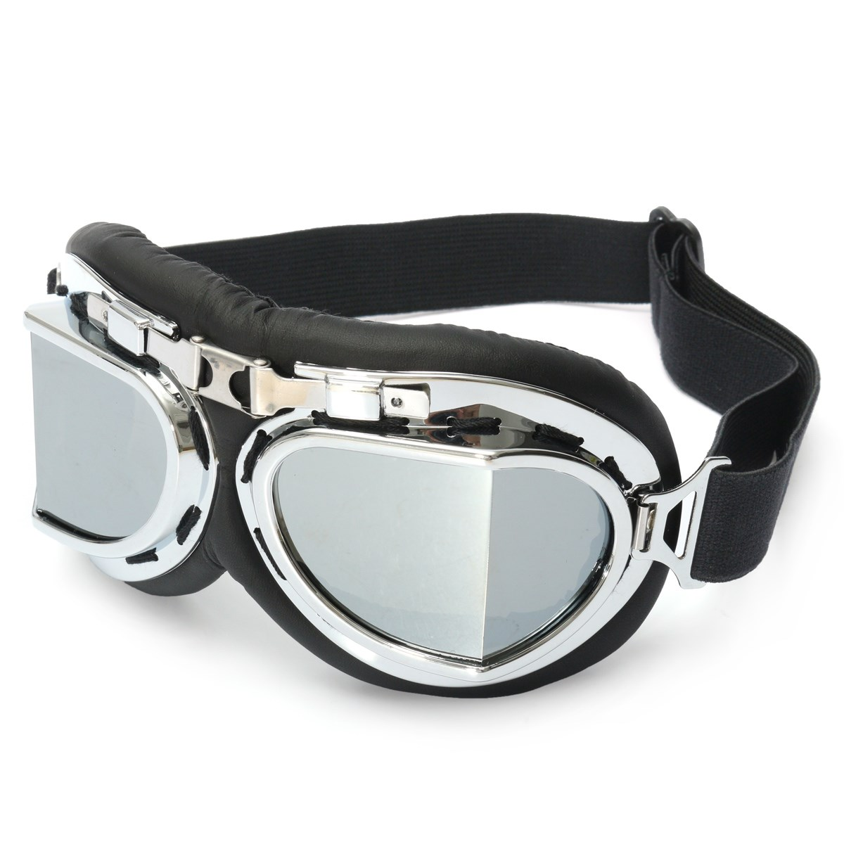 Pilot Motorcycle Sport Ski Clear Goggle Eyewear Scooter Goggle Glasses Safety Protective Goggle