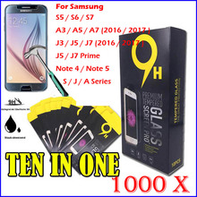 100Tempered Glass Screen Protector 9H Anti-explosion 2.5D LCD Saver Film Phone Protectors for Samsung A3 A5 A7 J7 J5 J3 S7