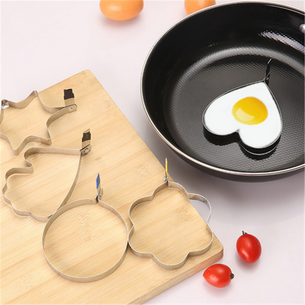 Stainless Steel Poached Eggs Fried Egg Apparatus Model Mold Caring  Nonstick Fry Eggs Circle