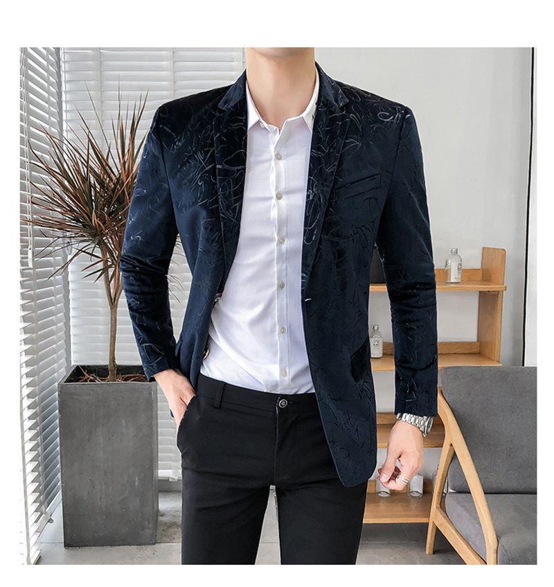 Blazer Masculino Slim Fit Casual Blazers Men Suits Wedding Blazer For Men (5)
