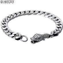 100% 925 Silver Surpent Bracelet 925 Sterling Silver Snake Link Bracelet Man Skull Bracelet 925 sterling silver bracelet virgin mary male bracelet 057913w