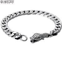 100% 925 Silver Surpent Bracelet 925 Sterling Silver Snake Link Bracelet Man Skull Bracelet