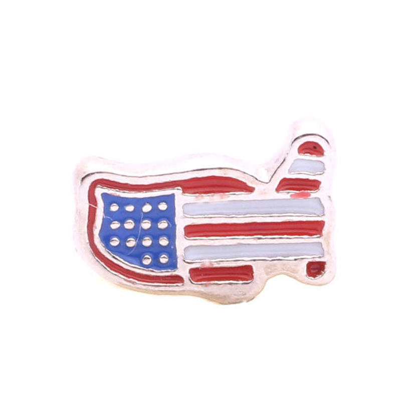 USA flag, Floating charms fit floating lockets, FC4175
