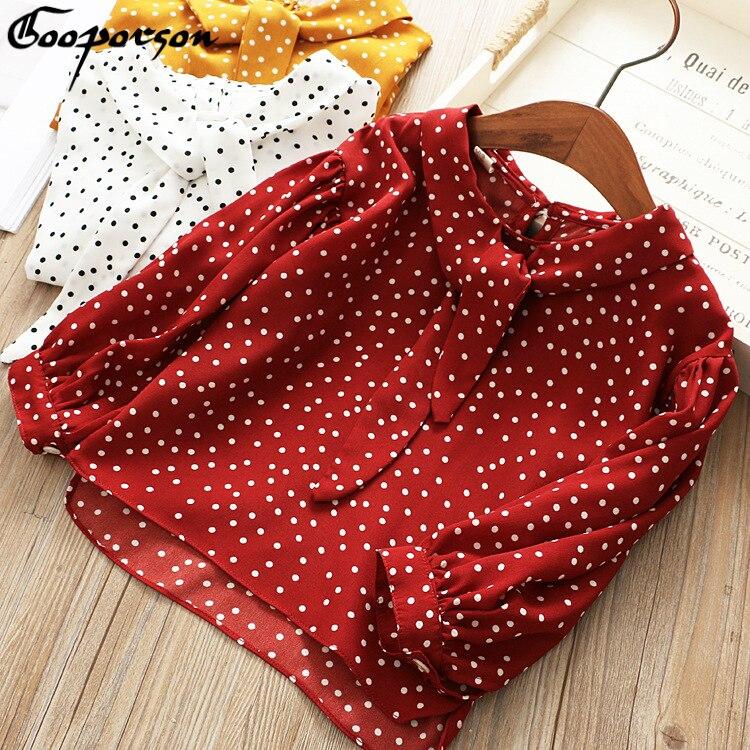 meninas chiffon camisa blusa vinho vermelho dot manga longa primavera camisas para bebe menina basico roupas