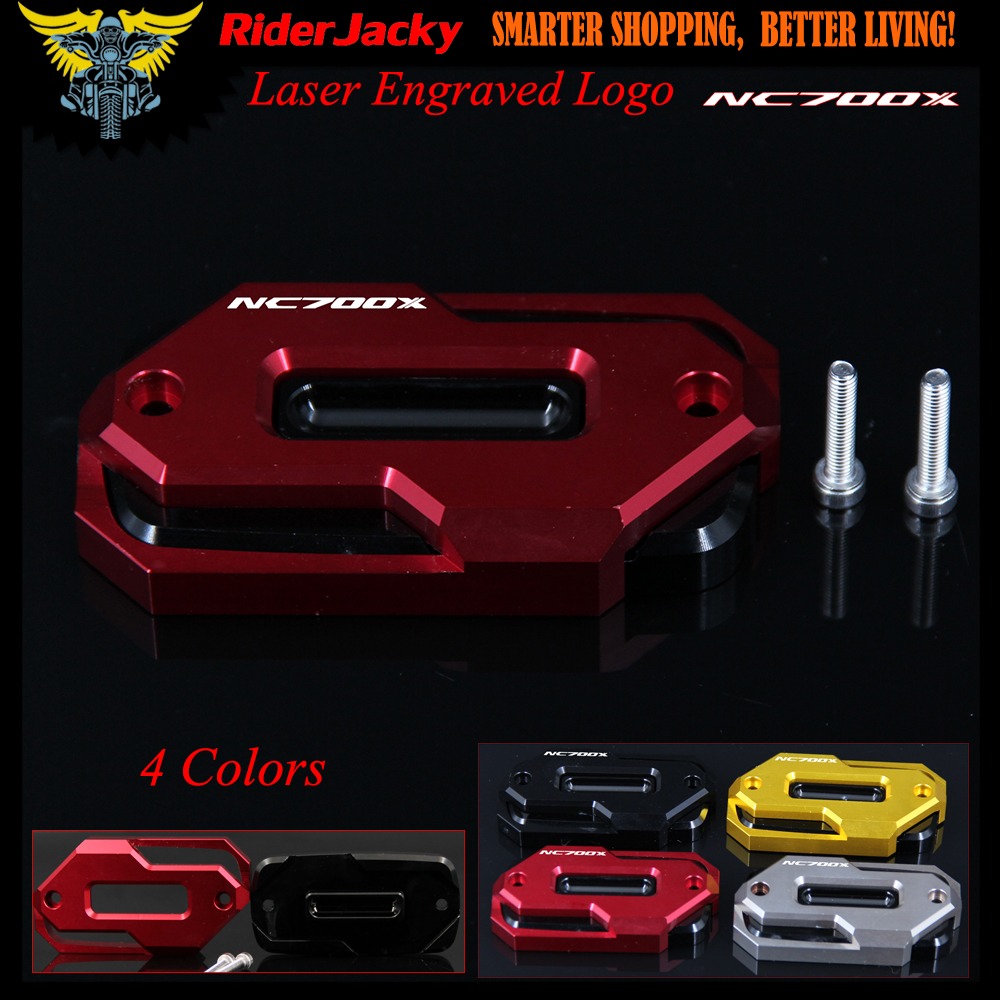 Laser Logo Red Motorcycle Front Brake Master Cylinder Fluid Reservoir Cover Oil Cap for HONDA NC700X NC700 X NC 700X 2012-2013