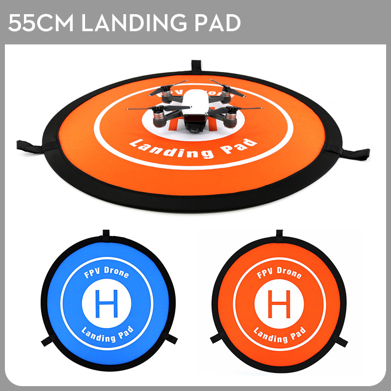 55cm Portable Foldable Landing Pad Universal FPV Drone Parking Apron Pad for Mavic 2 Pro Mavic Air Spark Phantom 4 Xiaomi Drone easttowest portable fast fold 75cm drone landing pad for dji mavic pro spark mavic air phantom 2 3 4 drone quadcopter