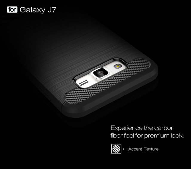 TPU Case for Samsung Galaxy J7 2015 J 7 SM-J700 J700 J700F J700H Carbon Fiber Cover SM-J700F SM-J700H SM-J700M Phone Cases