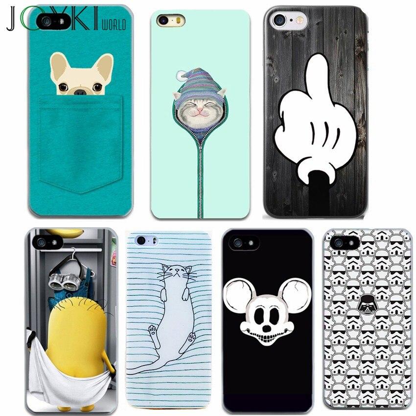 Joykiworld 5S 6S 7 Plus Cute Animal Cat Cover For Iphone 7 7 Plus 6 6S 5 5S SE Phone Cas ...