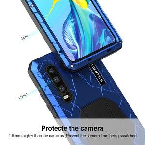 Image 5 - Pour Huawei P30 P30 Pro étui de téléphone dur en aluminium métal trempé verre protecteur décran pour Mate10 20 Protection robuste