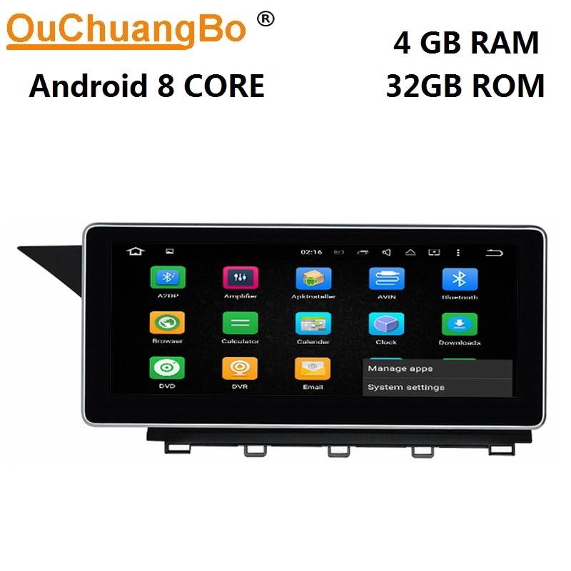 Lecteur audio radio gps ouchuangbo Android 8.0 pour Mercedes Benz GLK X204 2013 2014 avec 10.25