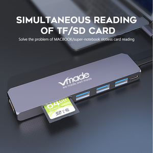 Image 5 - USB 3.0 Tip C Hub 4k hdmi adaptörü 7 in 1 Thunderbolt 3 USB C Hub USB3.0 TF USB kart okuyucu PD yuvası MacBook Pro/Hava 2018