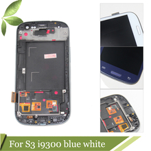 i9300 LCD Compatible for Samsung Galaxy S3 III i9300 LCD Touch screen Digitizer Display Assembly With Frame with Home button