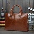 2015 Men Business Shoulder PU Leather Bag Men Casual Briefcase Messenger Bags Computer Laptop Handbag Bag Men's Travel Bags