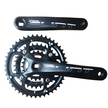 цена на 1 Pair PROWHEEL 8/9 Speed Bike Crank Set 22/32/42T Bicycle Crank Set Hollow Tooth Plate 170mm Bicycle Crankset Sprocket
