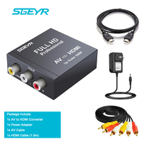 SGEYR AV2HDMI Mini Composite RCA CVBS AV to HDMI Converter Input AV Output HDMI for VCR DVD 720P 1080P