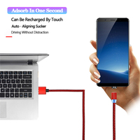 cable samsung Micro USB Magnetic Cable Fast Charging Data Wire Type C Charger Cable For iphone XS Samsung Android 9.0 USBC Mobile Phone Cables (2)