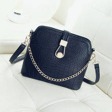 Vintage Crocodile PU Leather Women Bag Chain Strap Top-handle Bags Small Fashion Crossbody Bag