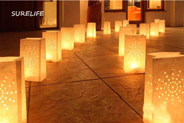 50pcs Festival Lantern Paper Candle Bag Outdoor Lighting Candles For Wedding Decorations Event Pary Supplies