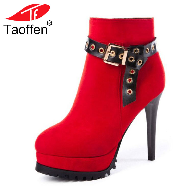 Big Size 33 43 Women Motorcycle Boots Gold Accessory High Heel Ankle Wedding Boots Platforms Round Toe Shoes Women Fur Footwear